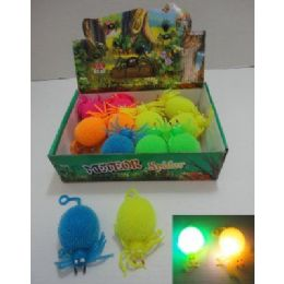 144 Units of Light Up Puffer Spider - Light Up Toys