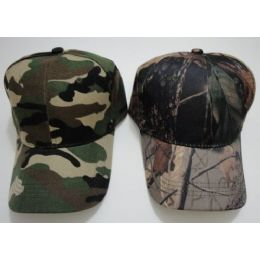 144 Units of Solid Camo Hat-Army & Hardwoods Camo - Military Caps