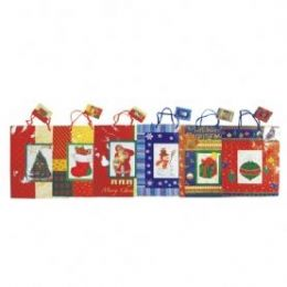 144 Units of Christmas Bag with Windows - Christmas Decorations