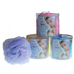 72 Units of Jumbo 2 Tone Body Sponge In Canister - Loofahs & Scrubbers