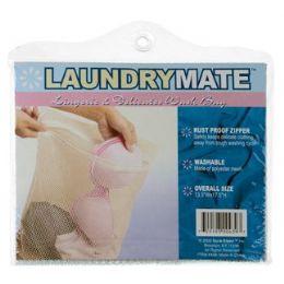 144 Units of Item# 439 Laundry Mate LINGERIE Mesh Zippered Wash Bag