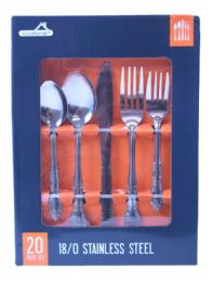 24 Units of 20 Piece Formal Stainless Steel Cutlery Set - Kitchen Cutlery