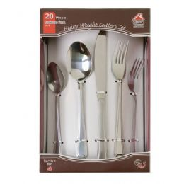 15 Units of 20 Piece Stainless Steel Cutlery Set Heavy Weight - Kitchen Cutlery