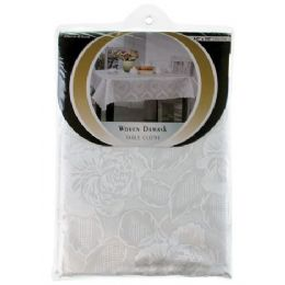36 Units of Item# 707 Round Damask Tablecloth - Table Cloth