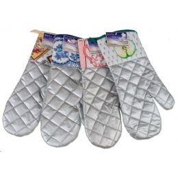 144 Units of Item# 716 Kitchen Helpers 15 Metallic Oven Mitt - Oven Mits & Pot Holders