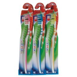 288 Units of Item# 850 Denta-Kleen Single Toothbrush In Display - Toothbrushes and Toothpaste