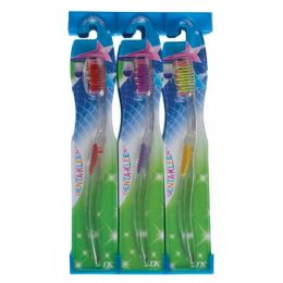 288 Units of Denta-Kleen Single Pk Toothbrush In Display - Toothbrushes and Toothpaste