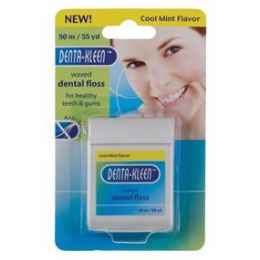 144 Units of Item# 866 55 Yard Waxed Dental Floss / Mint Flavor - Toothbrushes and Toothpaste