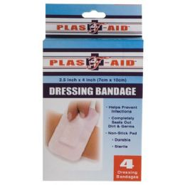 72 Units of Item# 992 4 Pk Dressing Bandages - First Aid and Bandages