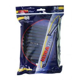 72 Units of 24 Pk Twin Blade Disposable Men's Razors - Shaving Razors