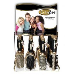 144 Units of Eclypse Hairbrush On Metal Display Rack - Hair Brushes & Combs
