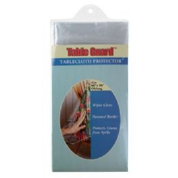 144 Units of Economy Clear Tablecloth Protector (Asst Sizes) - Table Cloth
