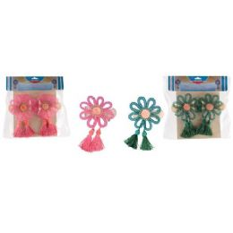 96 Units of 2 Piece Flower Curtain Clip Set - Window Curtains