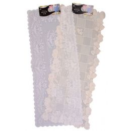 "144 Units of 16"" X36"" White/beige Lace Runner - Table Runner"