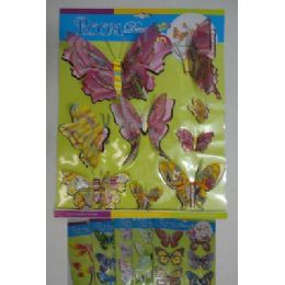 144 Units of 3D Foam Wall Decor--Butterflies - Tattoos and Stickers