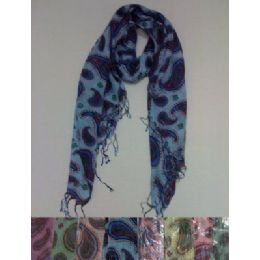 72 Units of Scarf with Fringe--Lg Paisley - Winter Scarves