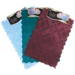 """144 Units of 2 Pc 12""""X18"""" Asst Colors Fancy Damask Placemats - Placemats"""