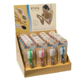 144 Units of Viva 4 Step Pedicure Paddle In Display Box - Manicure and Pedicure Items