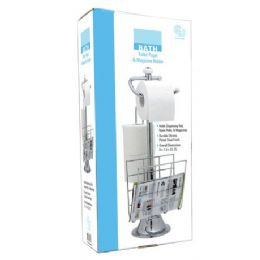 6 Units of Chrome Toilet Paper And Magazine Holder - Toilet Paper Holders