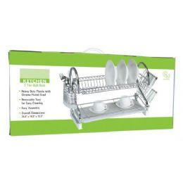 4 Units of 2 Tier Chrome Kitchen Dish Rack - Dish Drying Racks
