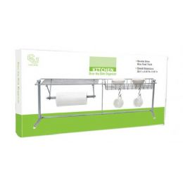 6 Units of Chrome Over The Kitchen Sink Organizer - Home Accessories