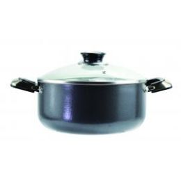 6 Units of Belly Shaped Cooking Pots Feature Tempered Glass Lids With Steam Holes - Frying Pans and Baking Pans