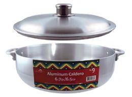 10 Units of Polished Aluminum Caldero Pots - Pots & Pans