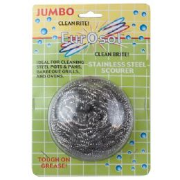 96 Units of Jumbo Stainless Steel Scourer - Cleaning Products