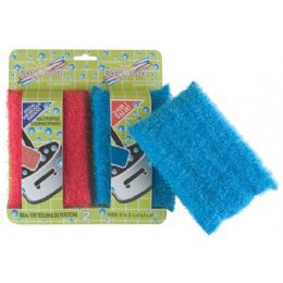 96 Units of 2 Pk Multi-Purpose Scouring Sponges - Cleaning Products