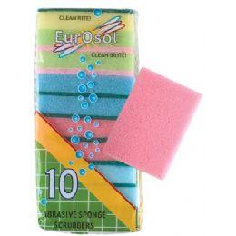 96 Units of 10 Pk Abrasive Sponge Scrubbers - Scouring Pads & Sponges