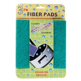 96 Units of 3 Pk Fiber Pads - Scouring Pads & Sponges