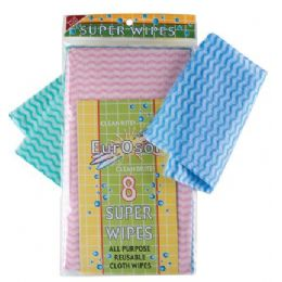 96 Units of 8 Pk All Purpose Wipes - Scouring Pads & Sponges