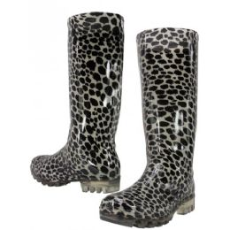 12 Units of Animal Print Rain Boot - Women's Boots