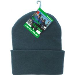 48 Units of Winter Ski Hat Black Only - Winter Beanie Hats