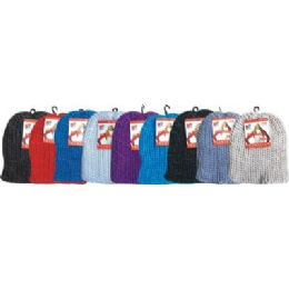 96 Units of Cable Knit Hat Assorted Colors - Winter Beanie Hats