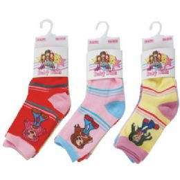 144 Units of 3 Pack Of Kids Socks - Girls Ankle Sock
