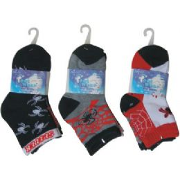 72 Units of 3 Pack Kids Sock - Boys Crew Sock