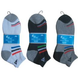 144 Units of  Mens 2 Pair Ankle Sport Ankle Sock Size 10-13 - Mens Ankle Sock