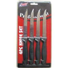 48 Units of 4 Pack Knife Set - Kitchen Knives