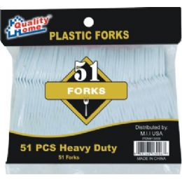 48 Units of 51 Piece Plastic Fork - Disposable Cutlery