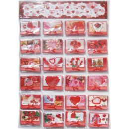 120 Units of Valentines Gift Card 3.5x4Inch With Envelope On Display - Valentines