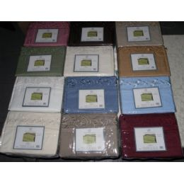 12 Units of Embroidery Microfiber Sheet Set Queen Size - Sheet Sets