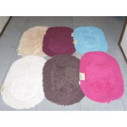 24 Units of Oval Plush Bathroom Racetrack - Bath Mats