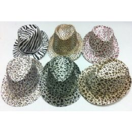 120 Units of Fedora Hat--Animal Print - Fedoras, Driver Caps & Visor