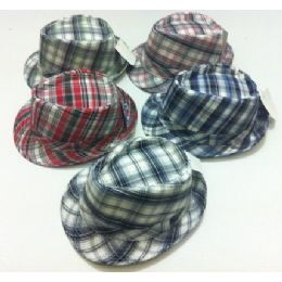 48 Units of Fedora Hat--Plaid - Fedoras, Driver Caps & Visor