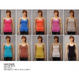 144 Units of Solid Color Cami Top - Womens Camisoles & Tank Tops