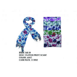 72 Units of womans fashion scarf floral - Womens Fashion Scarves