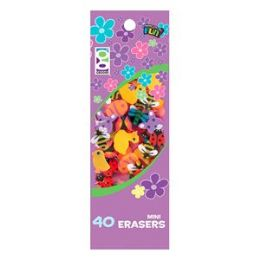 48 Units of 40 Ct. Spring Mini Erasers - Erasers