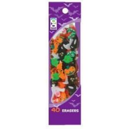 48 Units of 40 Ct. Halloween Mini Erasers - Erasers