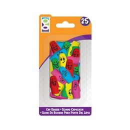 48 Units of 25 Ct. Happy Cap Eraser - Erasers